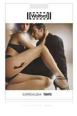WOLFORD SURREALISM Sheer Seam Black Tights 9180