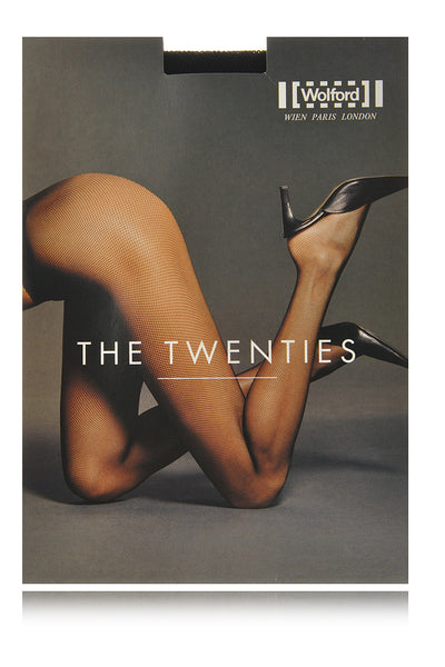 WOLFORD THE TWENTIES Net Black Tights 7005