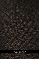 WOLFORD ΗΟUSTON Dotted Net Black Tights