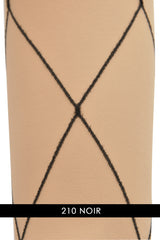 VIVIENNE WESTWOOD 18324 DIAMOND Sheer Beige Black Tights