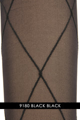 VIVIENNE WESTWOOD 18324 DIAMOND Sheer Black Tights