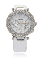 YVES BERTELIN SUIR White Crystal Chronograph Watch