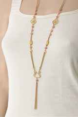 KALLISI Pink Snake Necklace