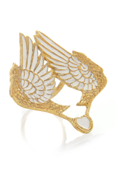 PELICAN Large Gold Ring
