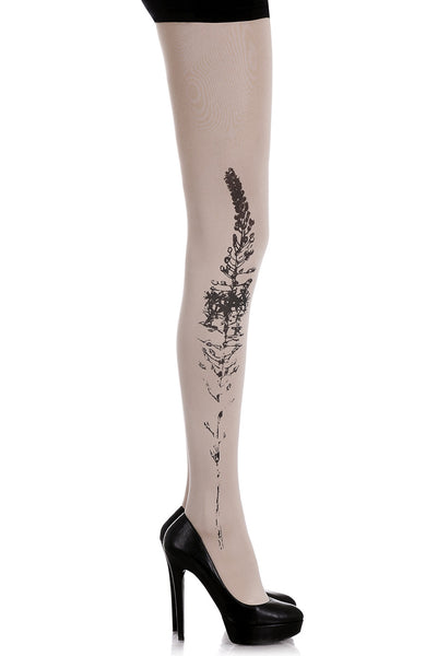 BUDDLEIA Flower Beige Tights