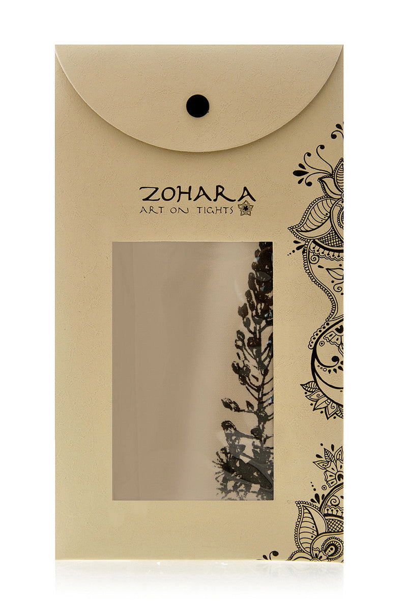 ZOHARA BUDDLEIA Flower Beige Tights