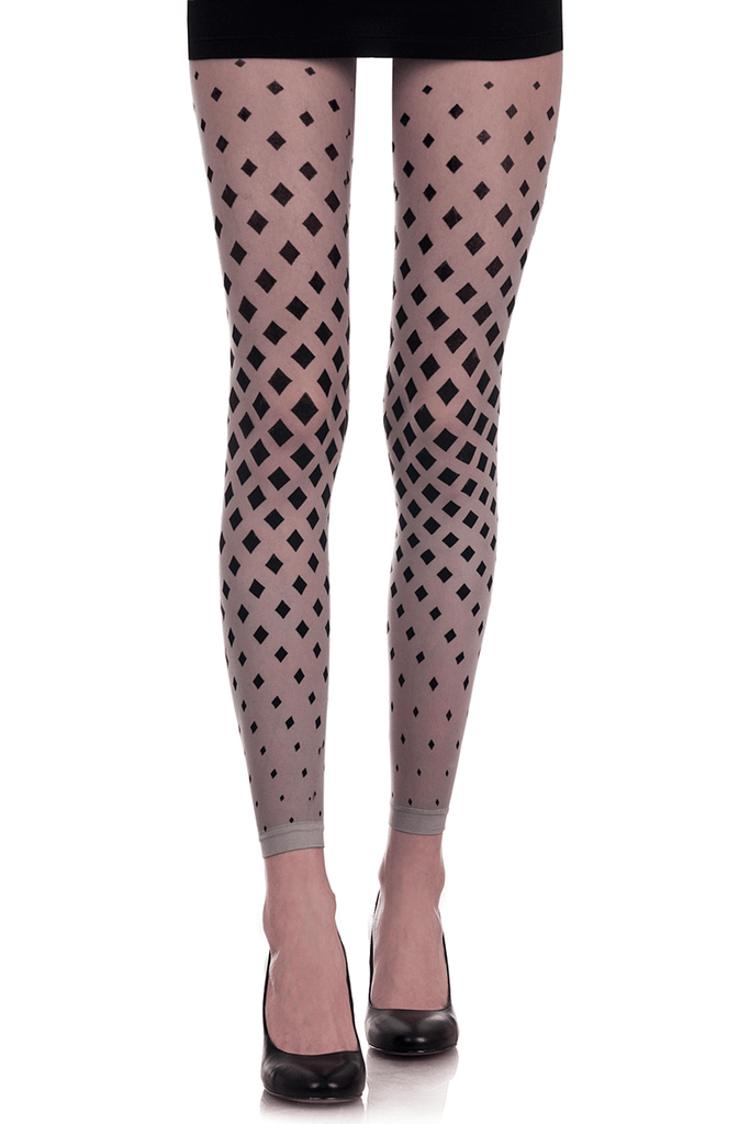 ZOHARA DIAMONDS Black Silver Leggings