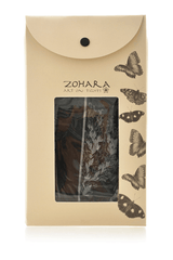 ZOHARA FLOWERS Back Seam Black Leggings