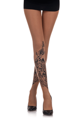 ZOHARA FLOWER BOUQUET Beige Tights