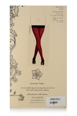 ZOHARA HEART Dark Pink Printed Tights