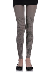 ZOHARA TEXT Medium Grey Leggings