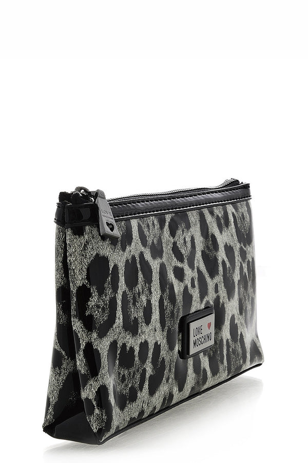 LOVE MOSCHINO Animal Print Beauty Case - LEOPARD Black White Beauty Case