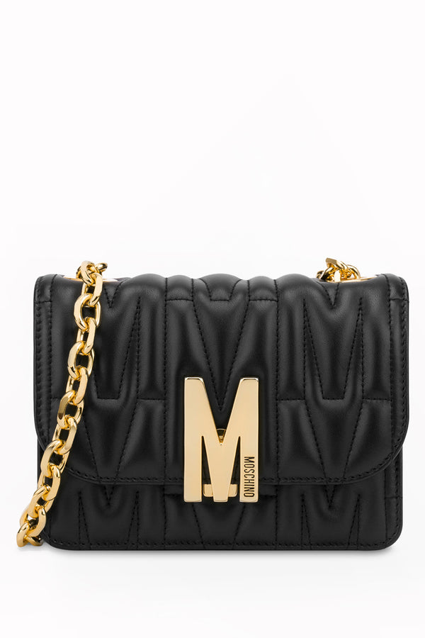 Moschino Bag M Quilted Black Shoulder Bag | Moschino Woman Shoulder Bags