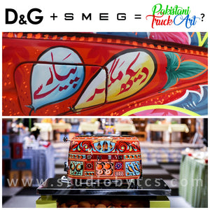 Are D&G + SMEG's Kitchen Appliances Inspired By Pakistani Truck Art?