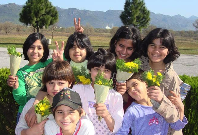 Afghan Girls at the Afghan Child Education and Care Organization's orphanage in Kabul