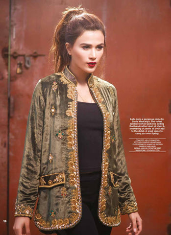 This gorgeous jacket by Sania Maskatiya is a great piece to carry you over spring