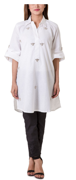 how to style white kurti
