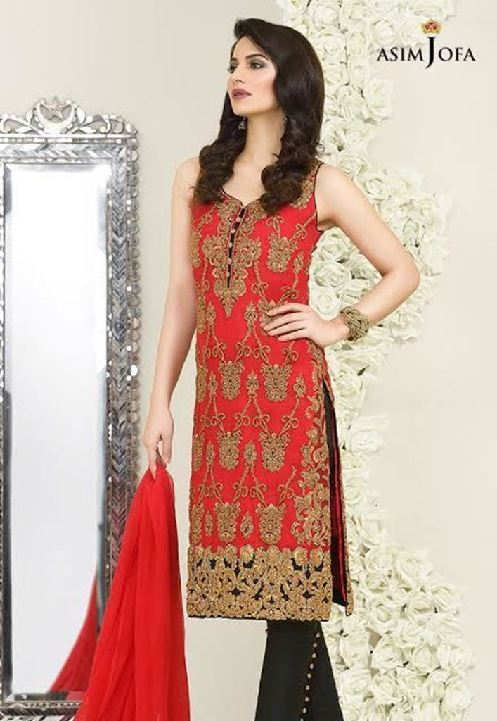 Asim Jofa - AJC-05b Luxury Embroidered Chiffon