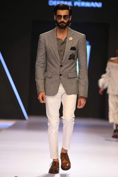 Deepak Perwani - Light Gray Suit - MST253
