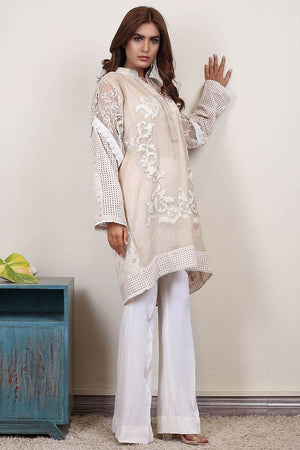 Insam - Porceline White Applique Top