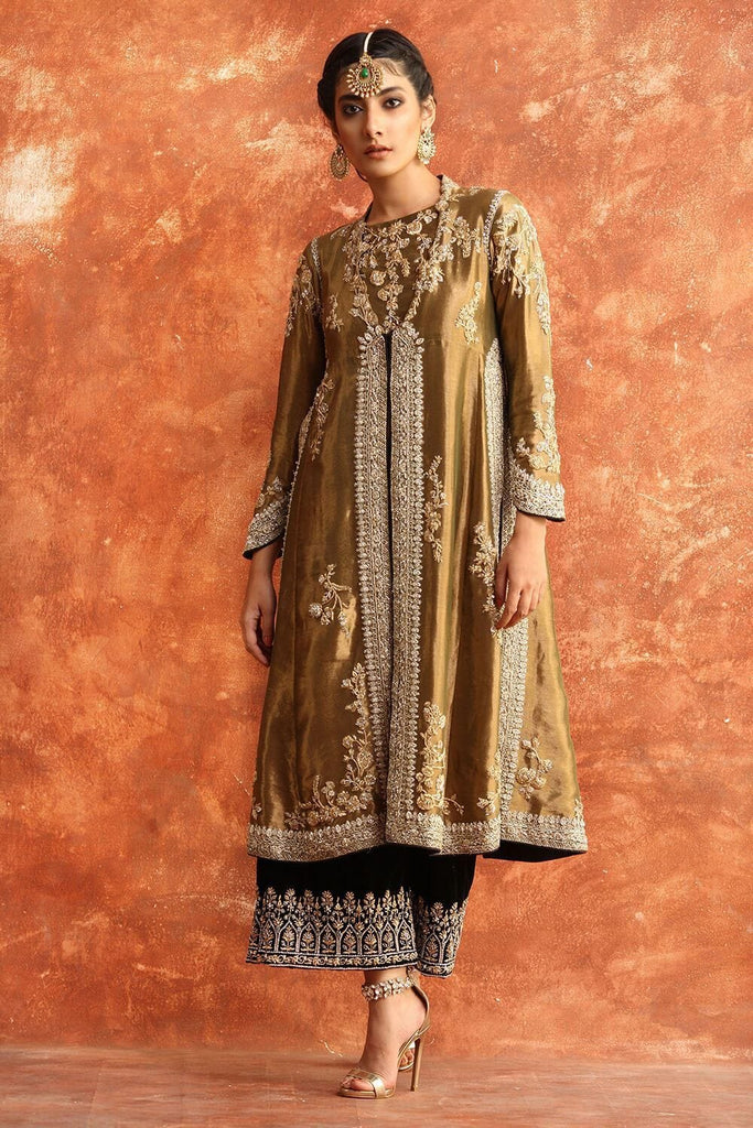 Nida Azwer - Gold Tissue Top
