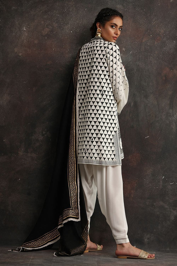 Nida Azwer - White Cotton Shirt
