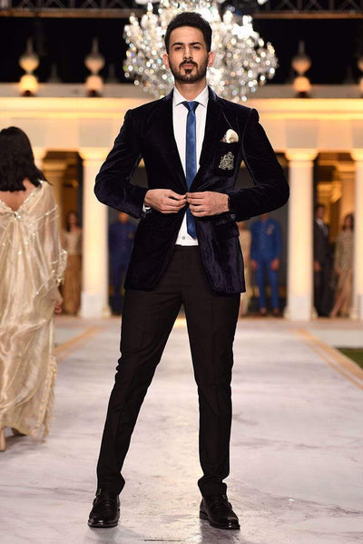 Deepak Perwani - Oxford Blue Suit - JKT312