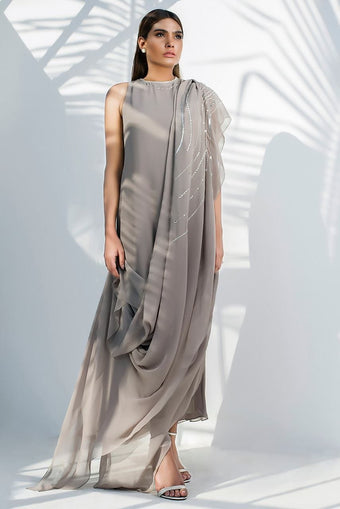 Sania Maskatiya -  Georgette Draped Dress