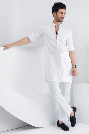 Sania Maskatiya - White Cotton Kurta