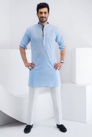 Sania Maskatiya - Light Blue Cotton Kurta