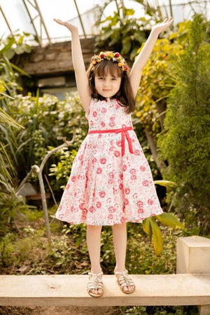 Hummingbirds - Red Rose Summer Dress