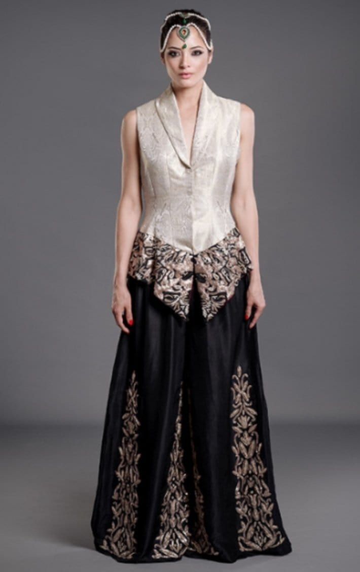 Samaira Ghani -  Fitted Jacket With Palazzo Pants