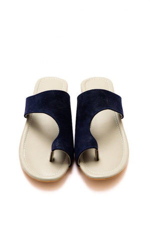 Step Up by JootiShooti - Navy Blue Riveria Slides (Limited Edition)