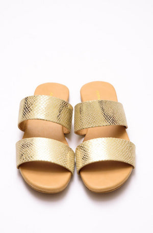 Step Up by JootiShooti - Glistening Gold Slides (Limited Edition)