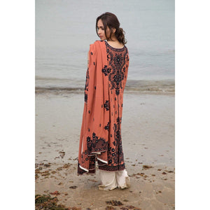 Rizwan Beyg - Terracotta Traditional Dori Shirt with Dupatta