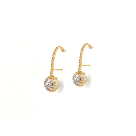 Rema Luxe - Gold Brass Metal Kà Earstuds Ear Wrap