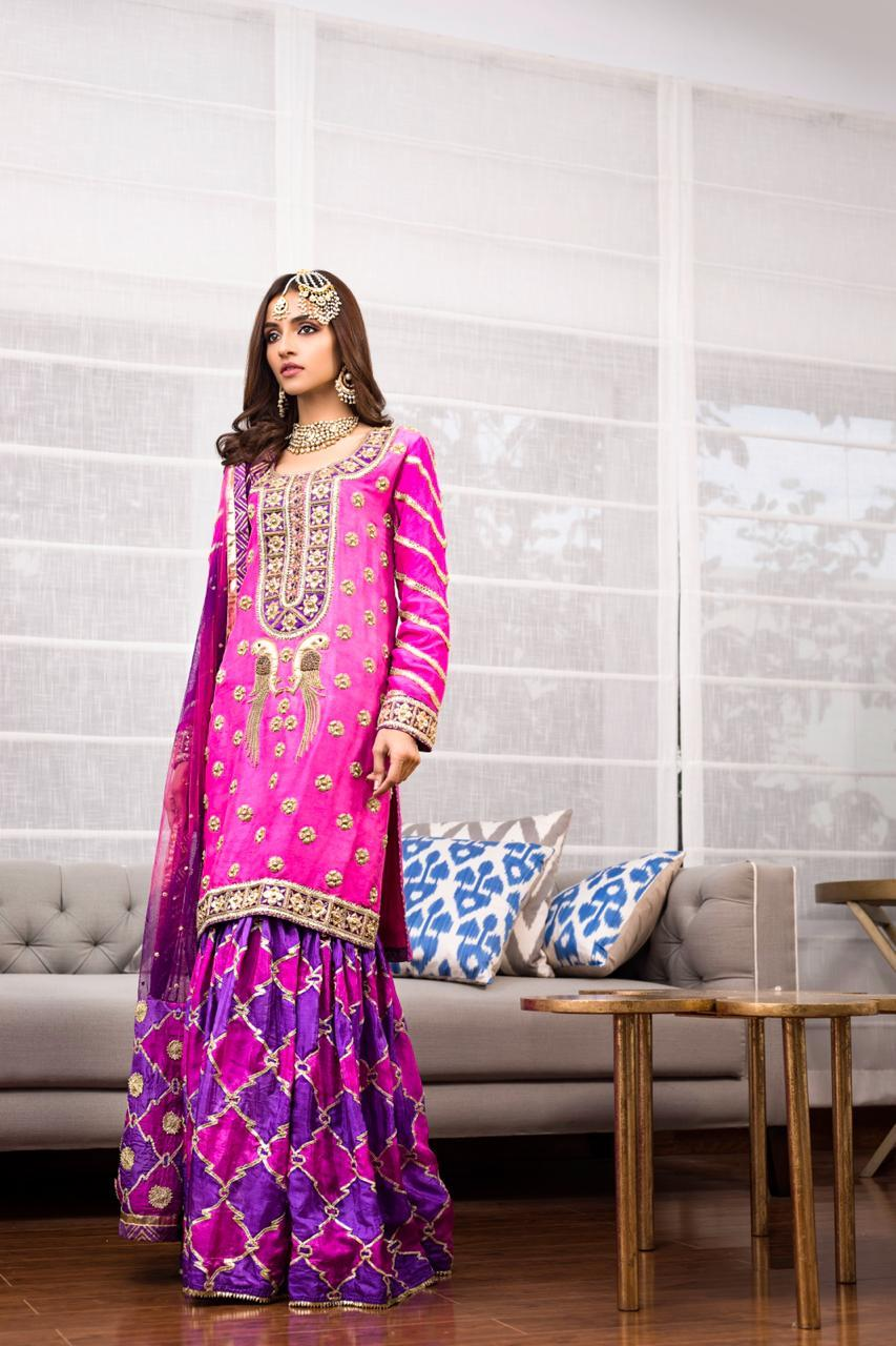 Shehrnaz - Shocking Pink and Purple SHBK-318