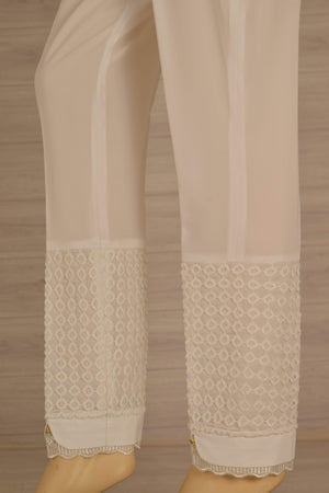 Wov - Off White Ciq Pol Lace Pant - 1 PC