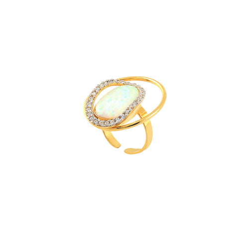 Rema Luxe - Gold Brass Metal Kooza Ring