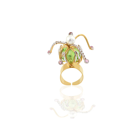 Rema Luxe - Gold Brass Metal Silky Spirals Ring