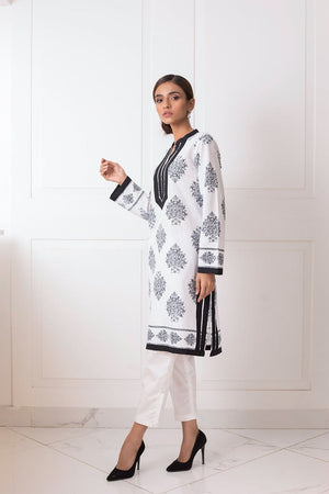Shehrnaz - Black & White Cotton Tunic