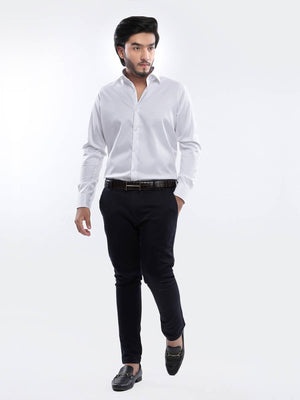 The Cress - White Plain Formal Shirt