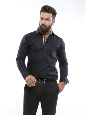 The Cress - Black Semi-Formal Shirt
