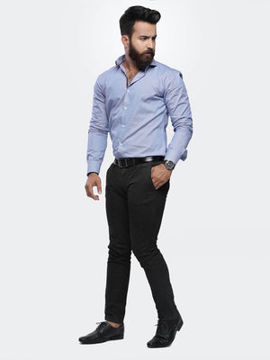 The Cress - Blue Premium Textured Formal Shirt