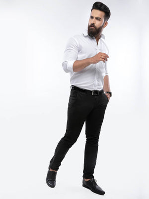 The Cress - White Formal Shirt With Button Down Collar