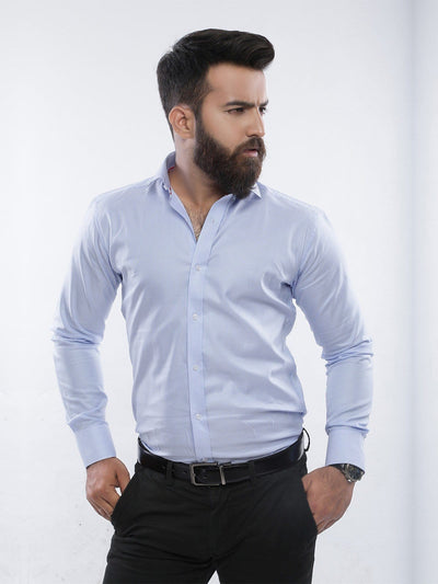 The Cress - Blue And White Stripes Dress Shirt