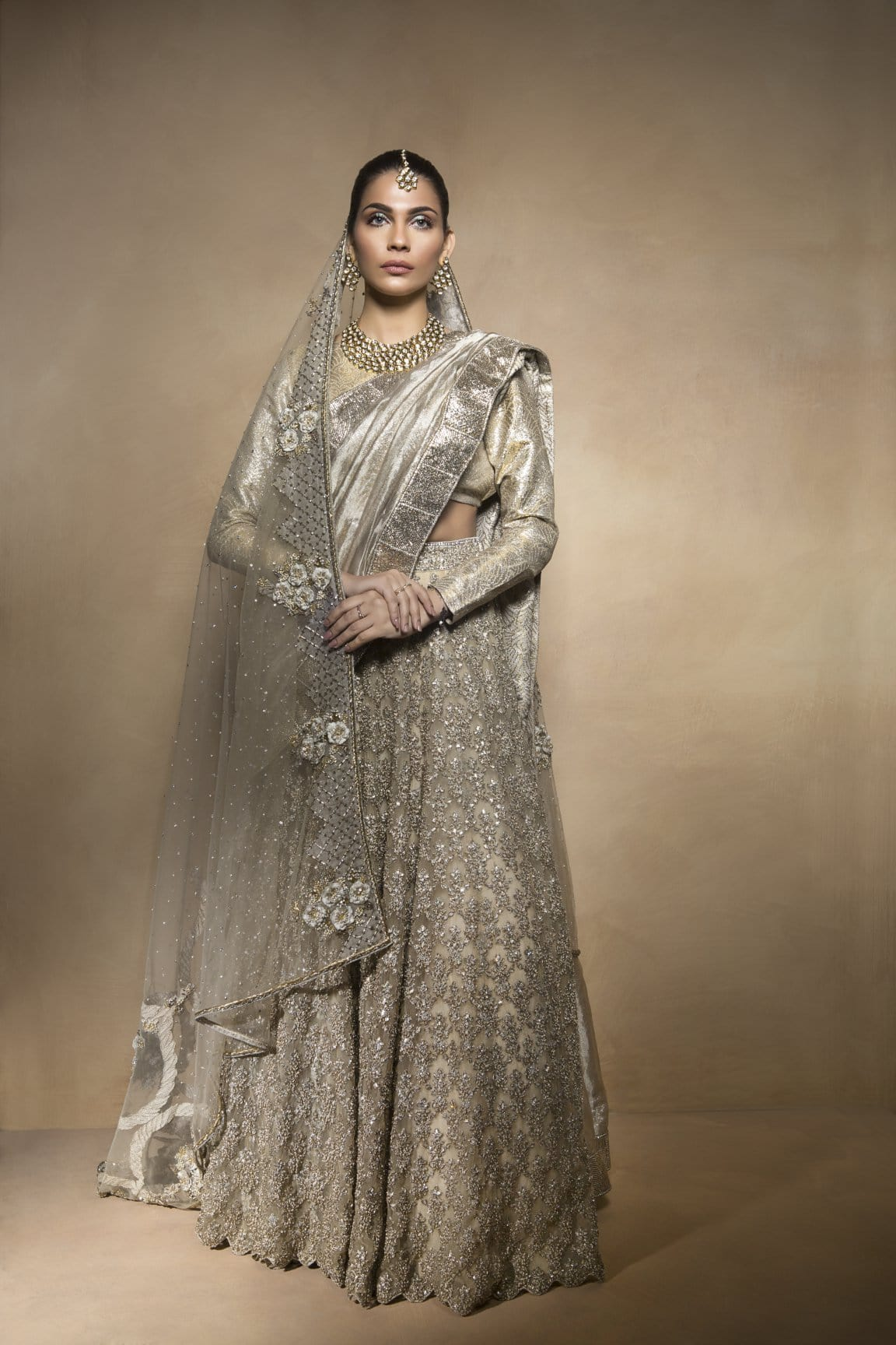 Mahgul -Silver Regal Bridal Outfit