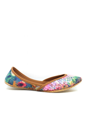 JootiShooti - Multi Coloured Floral Dream Embellished Khussa