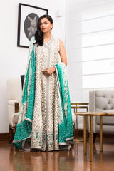 Shehrnaz - Silver and Green SHBK-319
