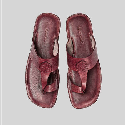 Novado - Bordo Kolhapuri Leather Slipper For Men